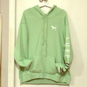 Good shape PINK mint color hoodie.